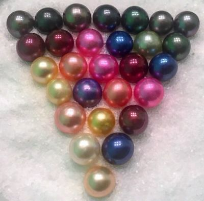 FROM USA 4 AKOYA OYSTERS WITH SINGLE ROUND PEARLS 6-7mm BEST ON eBAY!
