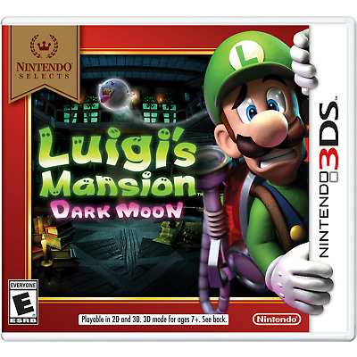 Luigi's Mansion: Dark Moon - Nintendo Selects (Nintendo 3DS, 2016)