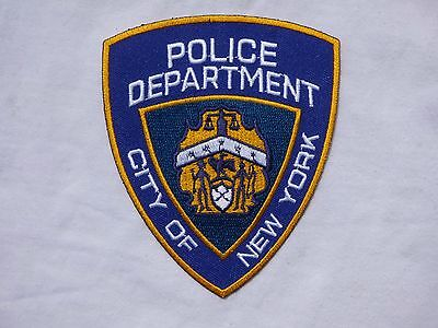 ECUSSON PATCH THERMOCOLLANT aufnaher toppa POLICE DEPARTEMENT NEW YORK city of