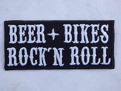 ECUSSON PATCH THERMOCOLLANT BEER BIKES ROCK N ROLL rockabilly biker country 1%