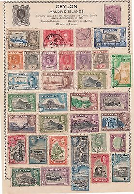 (K39-57) 1886-1938 Ceylon mix of 34 stamps value to 5R