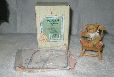 """Enesco Cherished Teddies 141283 John """" Bear In Mind, You're Special"""" With Box"""