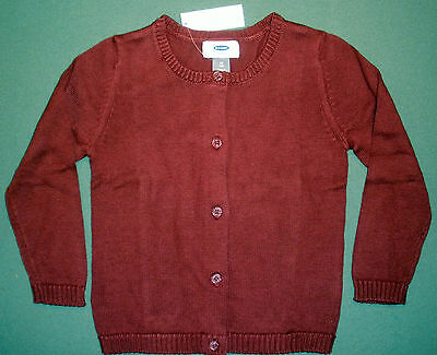 Nwt Old Navy Toddler Girls Burgundy Crew Neck Cardigan Sweater - Size 4T