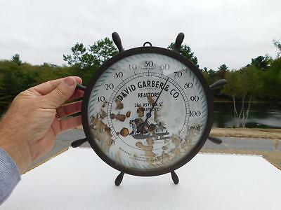 Vintage Ships Wheel Advertising Thermometer Realtors Standard Thermometer Boston