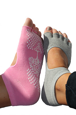 6 pairs Yoga Pilates Socks - Set of 3 (Black/Grey/Pink) PLUS Sample Set of 3