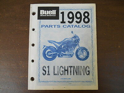 1998 harley davidson buell s1 lightning parts catalog manual book rh picclick com Buell S1 and SW1 Buell S1 Fairing