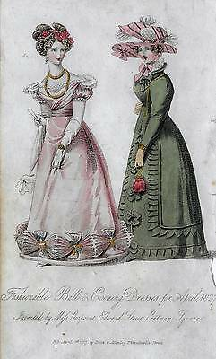 VICTORIAN ETHCHING, ENGRAVING ~ BALL GOWNS & EVENING DRESSES, COSTUMES, c1927
