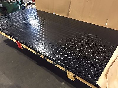 BLACK ALUMINIUM CHECKER TREAD PLATE 1200 X 2400 X 1.4mm