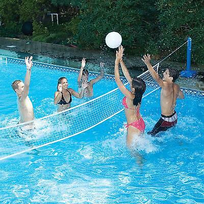 Cross Pool Volleyball Net Water Family Game For In Ground Poolside Kid Fun Sport