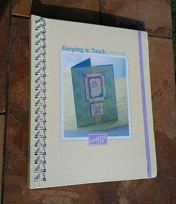 2002 Stampin' Up! Keeping in Touch Portfolio Series Spiral Book