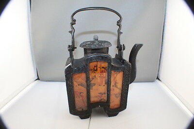 Vintage Cast Iron Asian  Japanese Teapot / Tea Kettle