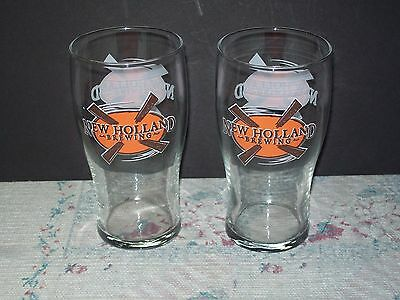 Lot of 2 New Holland Brewing Beer Pint Glasses NOS