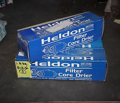 "HELDON SOLID FILTER CORE DRIER 3000-304 304 FLARE 1/2 MSAE 3"" DIA - lot of 3"