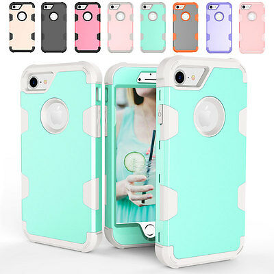 Heavy Duty Dual Layer Rugged Hybrid Rubber Case Cover For Apple iPhone 6 6s Plus