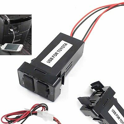 Power Outlet Dual USB Charger 2 Ports for Toyota Auto Car 1.2A 2.1A Audio