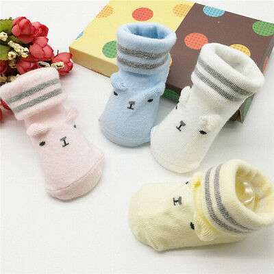 Cute Baby Anti-slip Socks Boy Girl Cartoon Cotton NewBorn Infant Toddler Socks