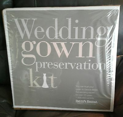 Wedding Gown Preservation Kit New in Box David' Bridal Dress Storage $189 Retail