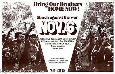 1971 Vietnam War Protest BRING BROTHERS HOME Black Power Poster (3244)