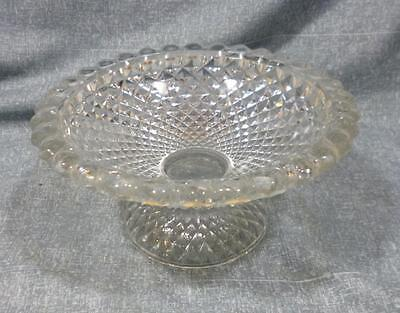 Flint Glass Sawtooth Pattern Low Compote.