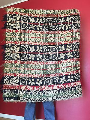 Aaronsburg Pennsylvania Antique Woven Coverlet 1840 Centre County PA