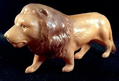Lion Celluloid Japan Medium Figure Jungle Animal 1930s Holiday Christmas Putz