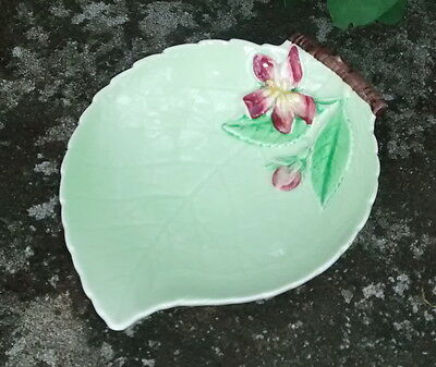 "Carlton Ware ""Apple Blossom"" Open Jam Ceramic Dish Green 4.5""L Australian Design"