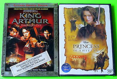 Action DVD Lot - King Arthur (Used) Disney Princess of Thieves (Used)