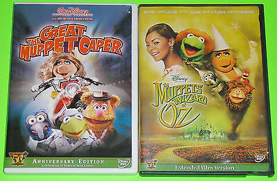 Disney DVD Lot - The Great Muppet Caper (Used) The Muppets Wizard of Oz (Used)