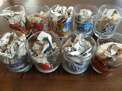 Vintage BIG EAST 10 years of Big East basketball 9 pc collector's glass set