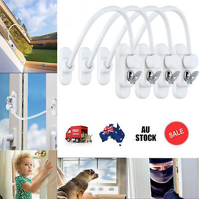 4x Security Locking Cable Window Door Restrictor Wire Child Baby Safety Lock Key