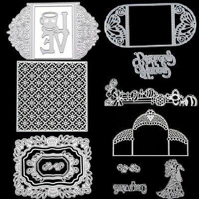 Love Greeting Card Metal Cutting Dies Stencil Scrapbooking Embossing Craft DIY