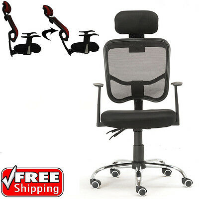 Ergonomic Mesh High Back Executive Computer Office Chair Black with Headrest New