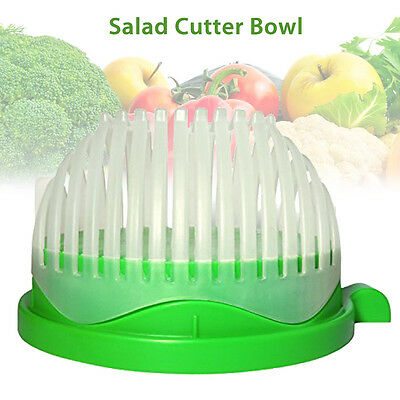 60 Second Salad Maker Cutter Bowl Cutter Slicer Healthy Made Easy Salad Tool