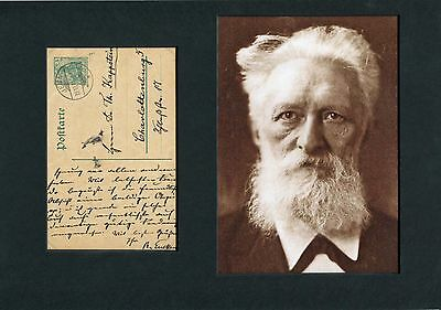 Rudolf Eucken (+) NOBEL PRIZE 1908 autograph, signed album page mounted