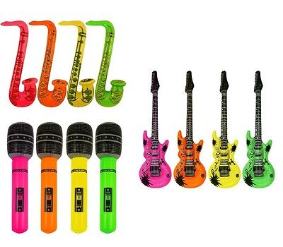 Inflatable Microphone Guitar Saxophone Blow up Fancy dress Party decorations