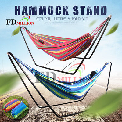 Double Hammock w/ Optional Stand Portable Outdoor Swing Camping Chair 300x150cm