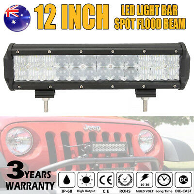 12inch 240W OSRAM Led Work Light Bar Spot Flood Offroad Driving Lamp Truck 4WD