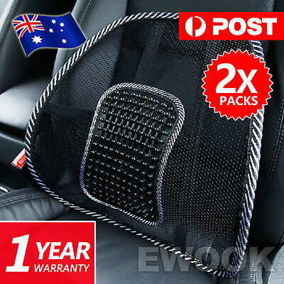 2x Mesh Lumbar Back Support for Office Home Car Seat Chair Truck Pillow Cushion