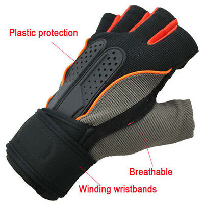 Wrist Wrap Gym Gloves For Sports Exercise Training Fitness Weight Lift Hot Men