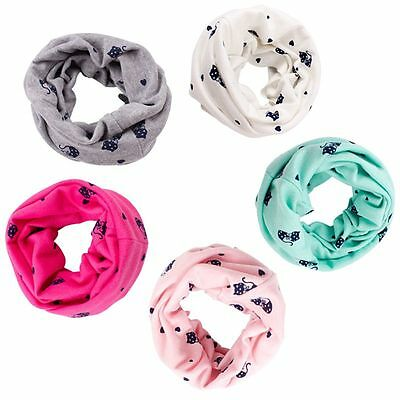 Lovely Newborn Baby Kids Cartoon Soft Scarves Neck Warps Ring Scarf Neckerchief