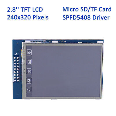 2.8 Inch 240x320 TFT LCD Display Touch Screen Module w/ SD Slot For Arduino