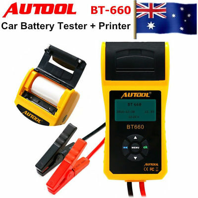 AUTOOL 12V Car Battery System Tester Lead Acid GEL AGM EBP with Printer + Paper