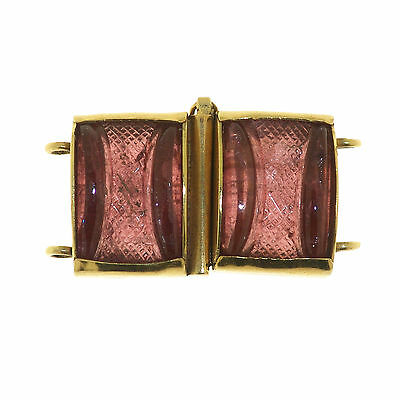(1568) Modern clasp in gold and tourmalines