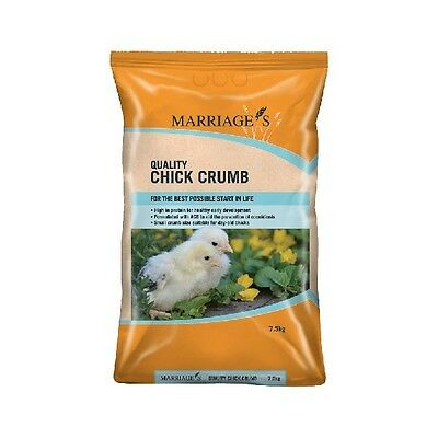 Marriages Specialist Foods Chick Crumbs 7.5kg x  4 Chicken Feed Food Seed
