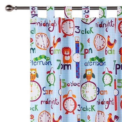 NEW Happy Kids O'Clock Glow in the Dark Curtain