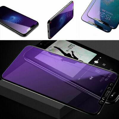 Full Coverage Blue Ray 3D Tempered Glass Screen Protector for iphone 6 6s 7 8+ X