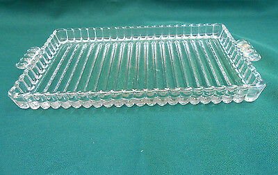 Vintage Clear Candlewick Depression Glass Sandwich Serving Tray 22cm X 10cm