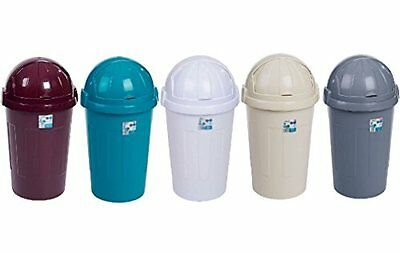 Bin Bins Plastic Swing Touch Top Bullet Bin Bucket Kitchen Rubbish Dust Tidy