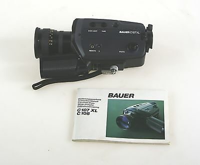 Bauer C107XL C107 XL Super 8 Camera with Macro-Neovaron 1.2 7-45mm Optics #58