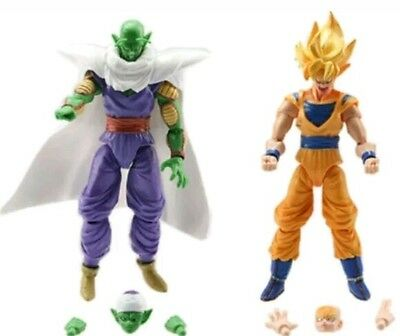 2 PERSONAGGI DRAGON BALL -16Cm.- Super Z Sayan Goku Figure Modellino Statuina